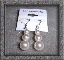 Swarovski Graduated Pearl Earrings  (click to enlarge)
