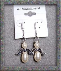 Guardian Angel  Birthstone Earrings - Pearl  (click to enlarge)