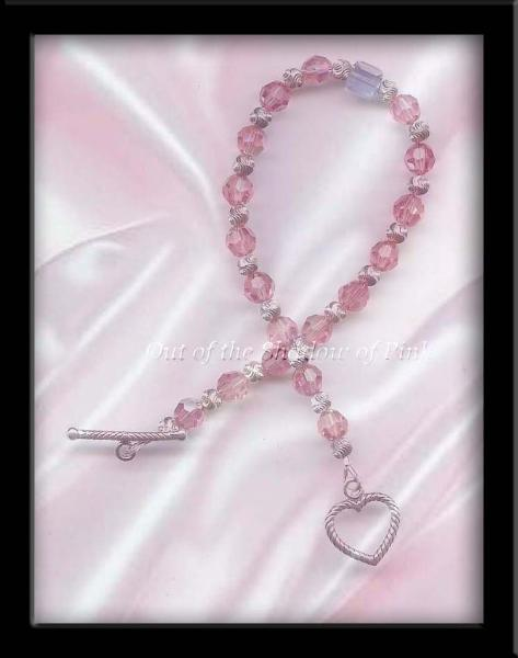 Male Breast Cancer Awareness Swarovski Crystal Bracelet